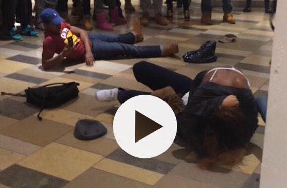 Huge brawl at Beachwood Mall because some girl stepped on another girl's pair of Jordans
