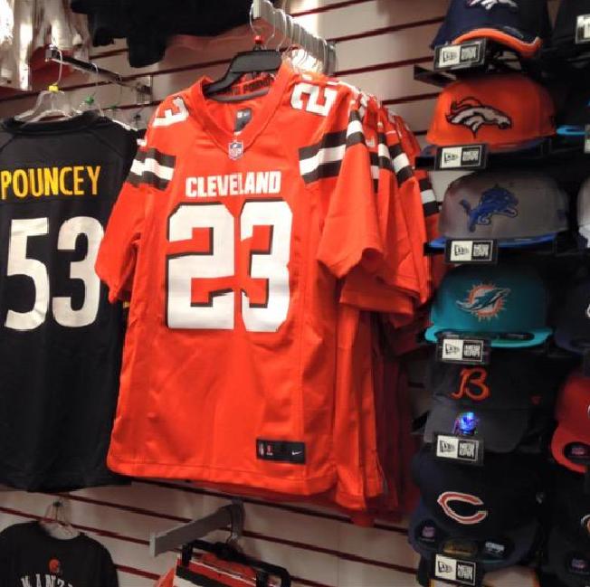 Pretty sure the new orange Browns jerseys have already hit shelves ... b78740b18
