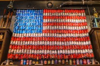 USA Flag in Beer Cans at Bub City