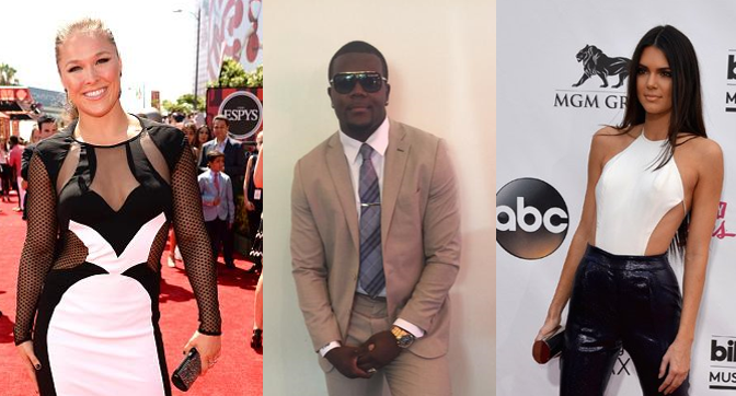 Cardale Jones tweeted at Ronda Rousey & Kendall Jenner at the ESPYS. Is a damn national treasure.
