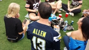 Some dork at the tailgate