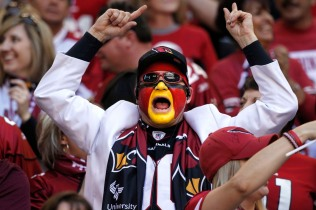082511500tk cards1212: Arizona Cardinals qfans cheer for their team in their NFL game Sunday, Dec. 11, 2011 in Glendale. Photo DAVID KADLUBOWSKI /Arizona Republic