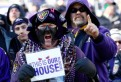 BALTIMORE, MD - JANUARY 15: Fans of the Baltimore Ravens cheer prior to the start of the AFC Divisional playoff game against the Houston Texans at M&T Bank Stadium on January 15, 2012 in Baltimore, Maryland. (Photo by Rob Carr/Getty Images)