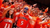 CHAMPAIGN, IL - JANUARY 22: Illinois Fighting Illini fans cheer during the game against the Wisconsin Badgers at Assembly Hall on January 22, 2012 in Champaign, Illinois. Wisconsin won 67-63. (Photo by Joe Robbins/Getty Images)