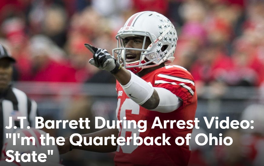 Image result for headline former OSU football player arrested