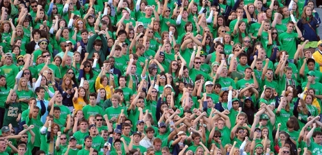 2010 Student Section Photo by Matt Cashore