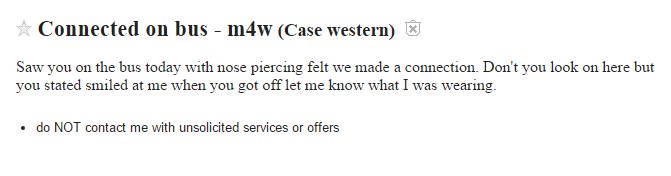 Cleveland Craigslist Missed Connections Is Back With A