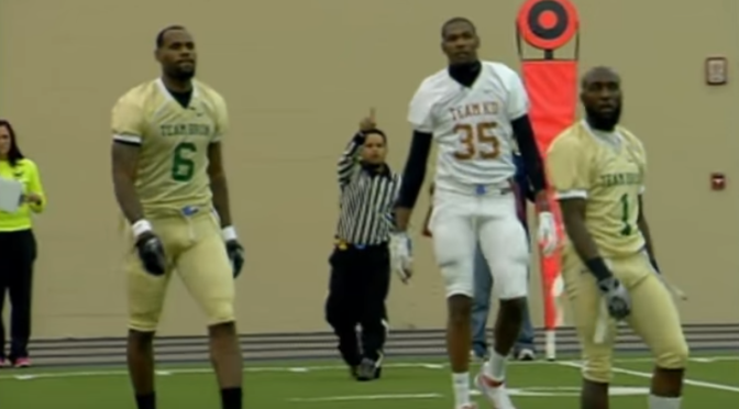 82544cf37a6e TBT  That Time LeBron   Kevin Durant Played Flag Football At The ...