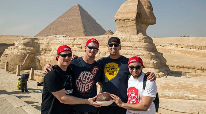 """Gary Barnidge wore a """"Keep the Chief"""" shirt in Egypt. And I think that's okay."""