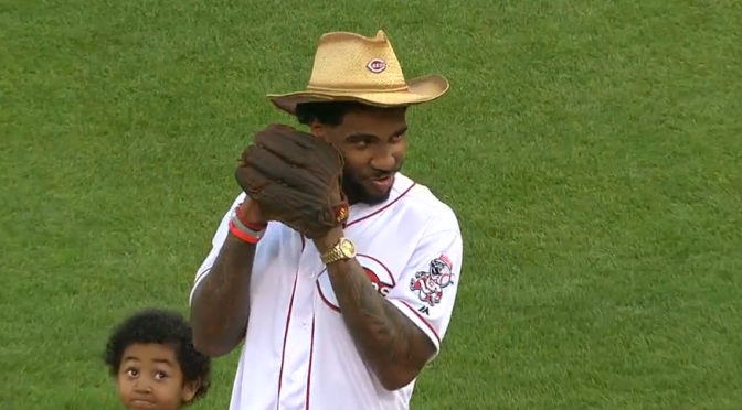 Video: Braxton Miller Brings The High Heat As He Throws Out The First Pitch At A Reds Game
