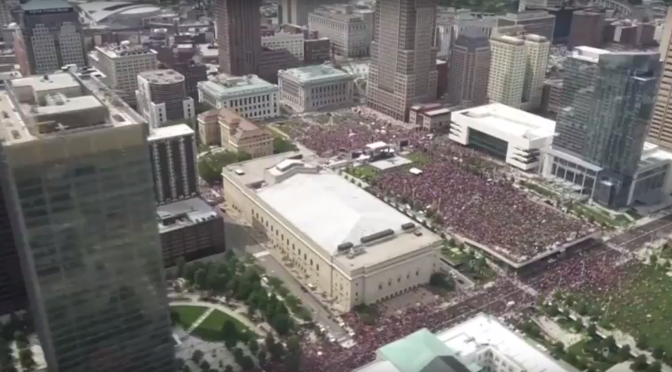 VIDEO: How the Cavs parade looked from a helicopter