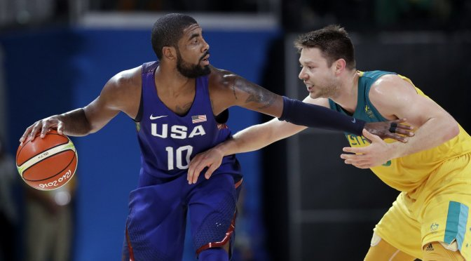 """Kyrie Irving hit a familiar-looking clutch 3 last night, """"Too soon"""" for Draymond"""
