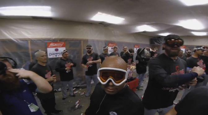 VIDEO: Trevor Bauer's GoPro footage from last night's clinching celebration