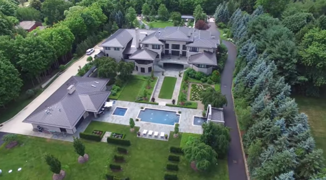 This Video Footage From A Drone Flying Over LeBron's House Is Pretty Sweet