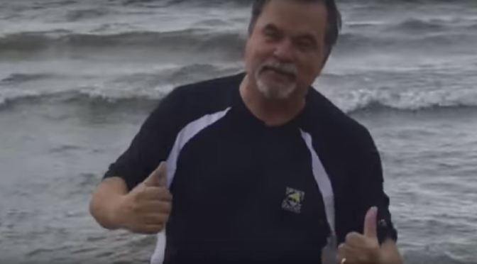 Paul Hoynes made good on his bet, jumped into Lake Erie for betting against the Indians