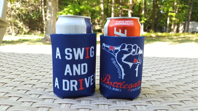 """We're Selling """"A Swig And A Drive"""" Beer Koozies Just In Time For The Tribe's Postseason Run"""