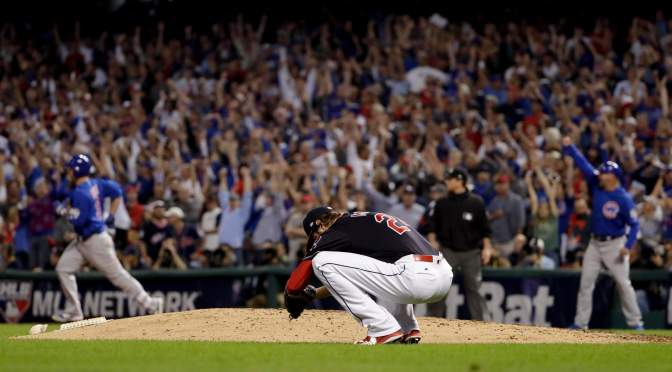 The Indians lost in the World Series, and I don't feel like I thought I would